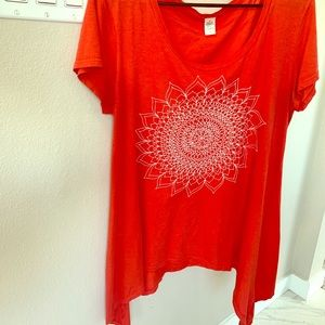Boho red shirt